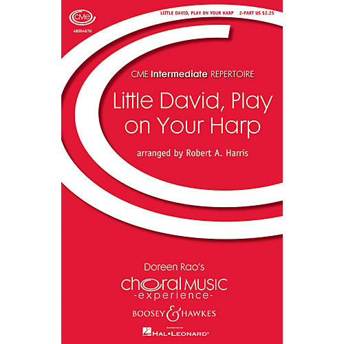 Boosey and Hawkes Little David, Play on Your Harp (No. 4 from Four Spirituals) 2-Part arranged by Robert A. Harris thumbnail