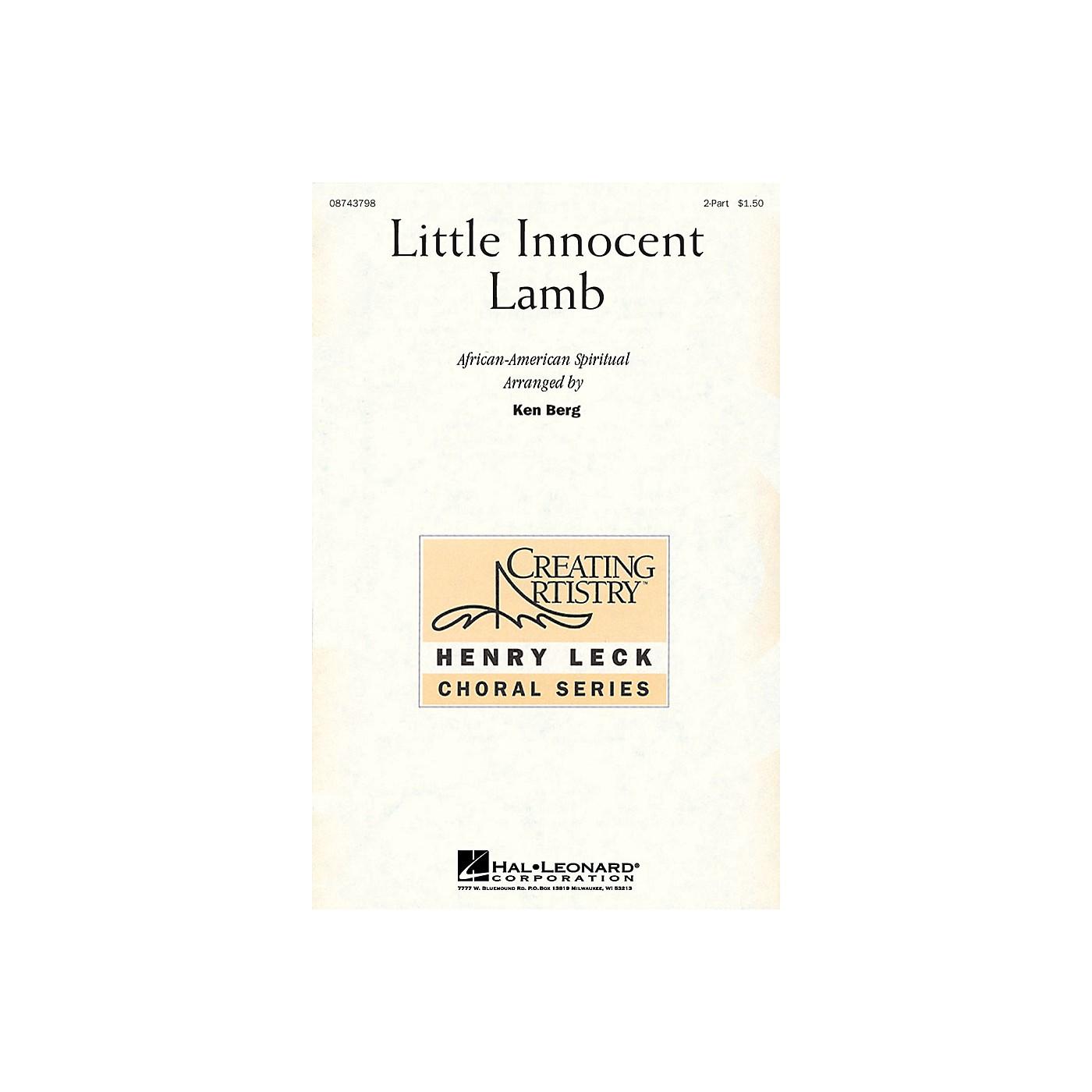 Hal Leonard Little Innocent Lamb 2-Part arranged by Ken Berg thumbnail