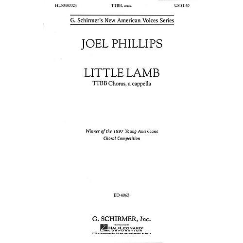 G. Schirmer Little Lamb (TTBB a cappella) TTBB A Cappella composed by Joel Phillips thumbnail