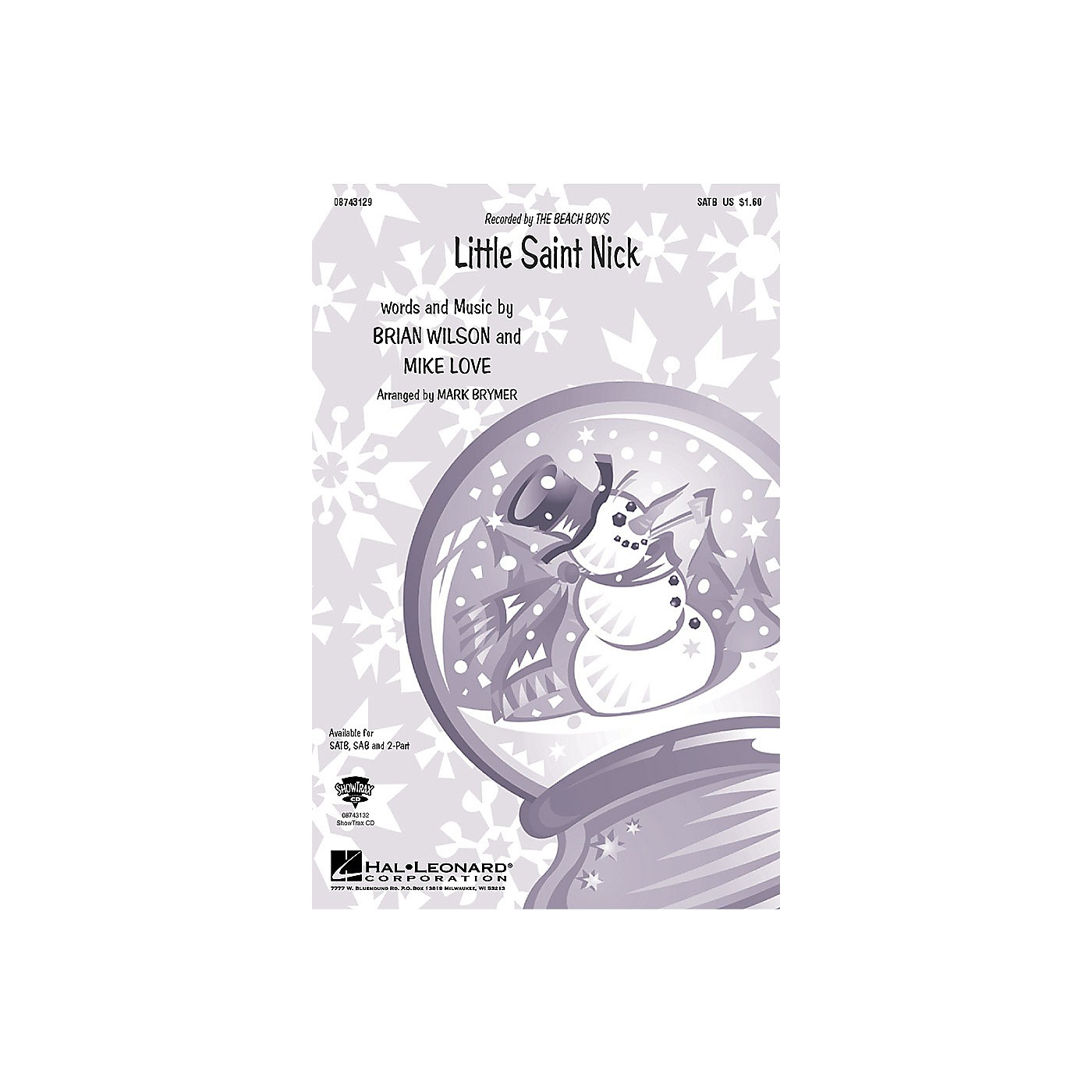 Hal Leonard Little Saint Nick 2-Part by Beach Boys Arranged by Mark Brymer thumbnail