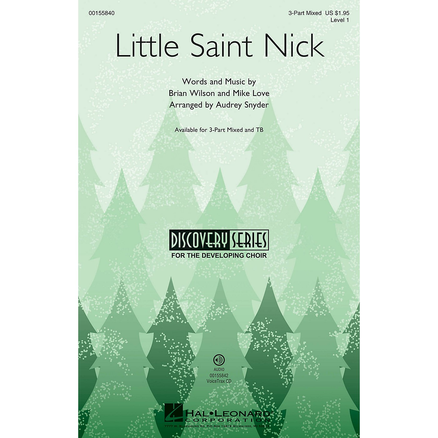Hal Leonard Little Saint Nick (Discovery Level 1) VoiceTrax CD Arranged by Audrey Snyder thumbnail