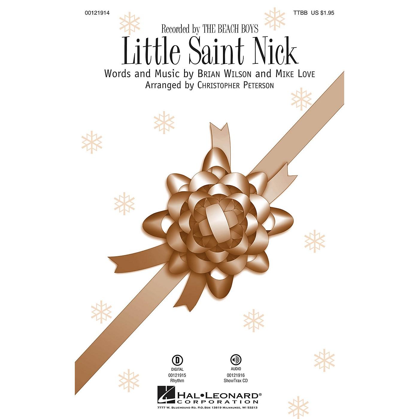 Hal Leonard Little Saint Nick TTBB by Beach Boys arranged by Christopher Peterson thumbnail