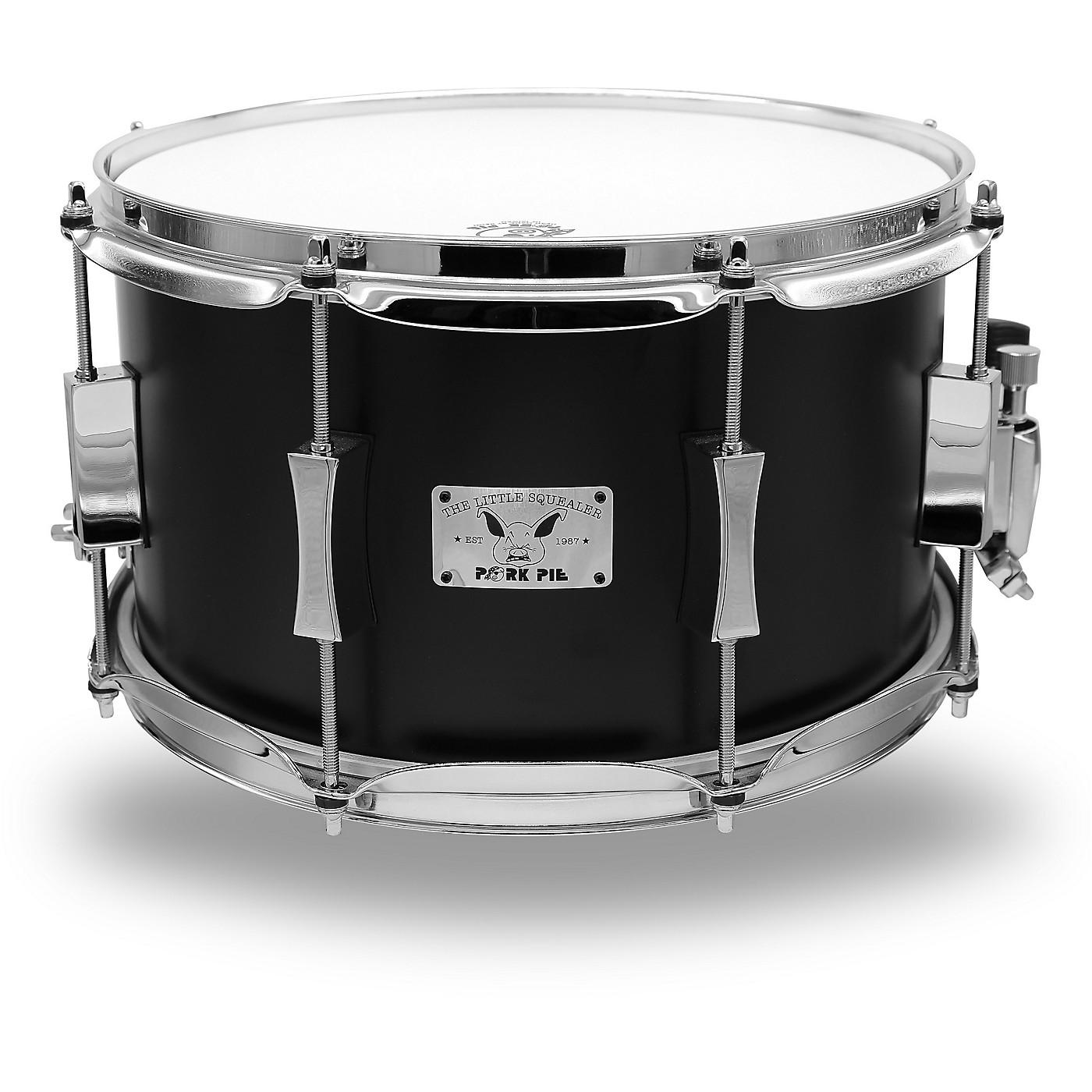 Pork Pie Little Squealer Flat Black Snare Drum thumbnail