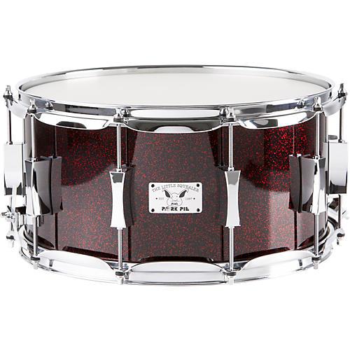 Pork Pie Little Squealer Maple Snare Drum, Blood Red Sparkle-thumbnail