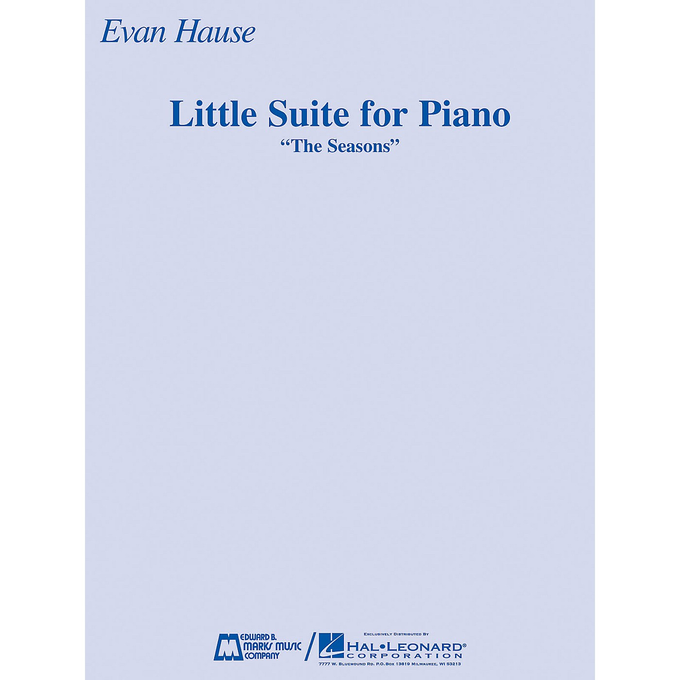 Edward B. Marks Music Company Little Suite for Piano (The Seasons) E.B. Marks Series Softcover thumbnail