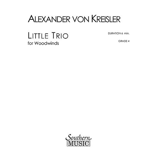 Southern Little Trio (Woodwind Trio) Southern Music Series by Alexander von Kreisler thumbnail
