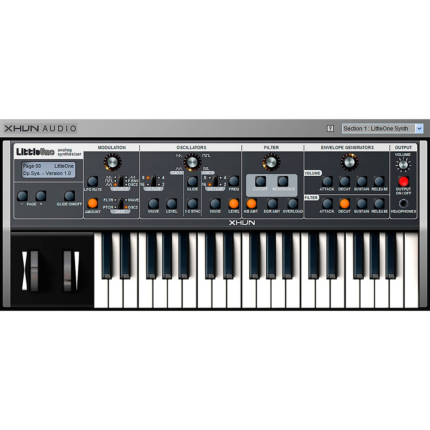 XHUN Audio LittleOne Virtual Synthesizer (Download) thumbnail