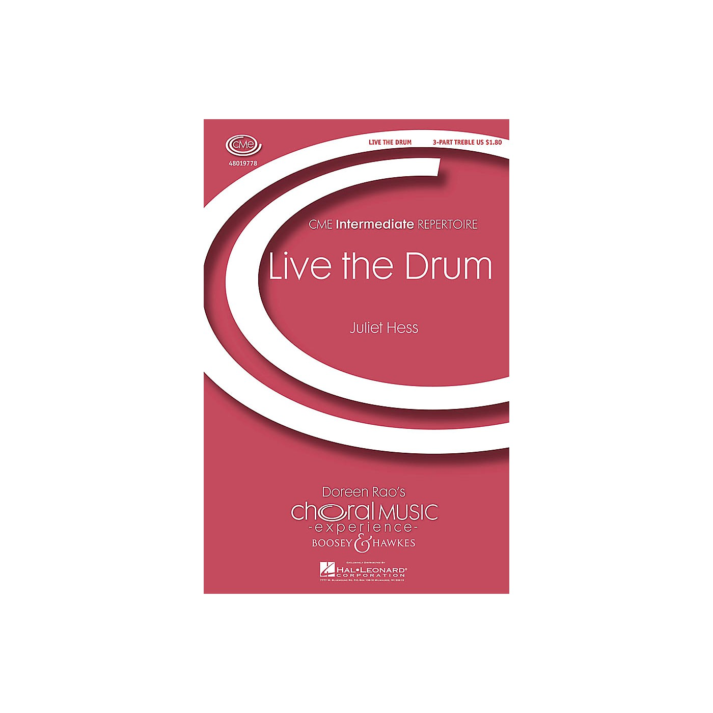 Boosey and Hawkes Live the Drum (CME Intermediate) 3 Part Treble composed by Juliet Hess thumbnail