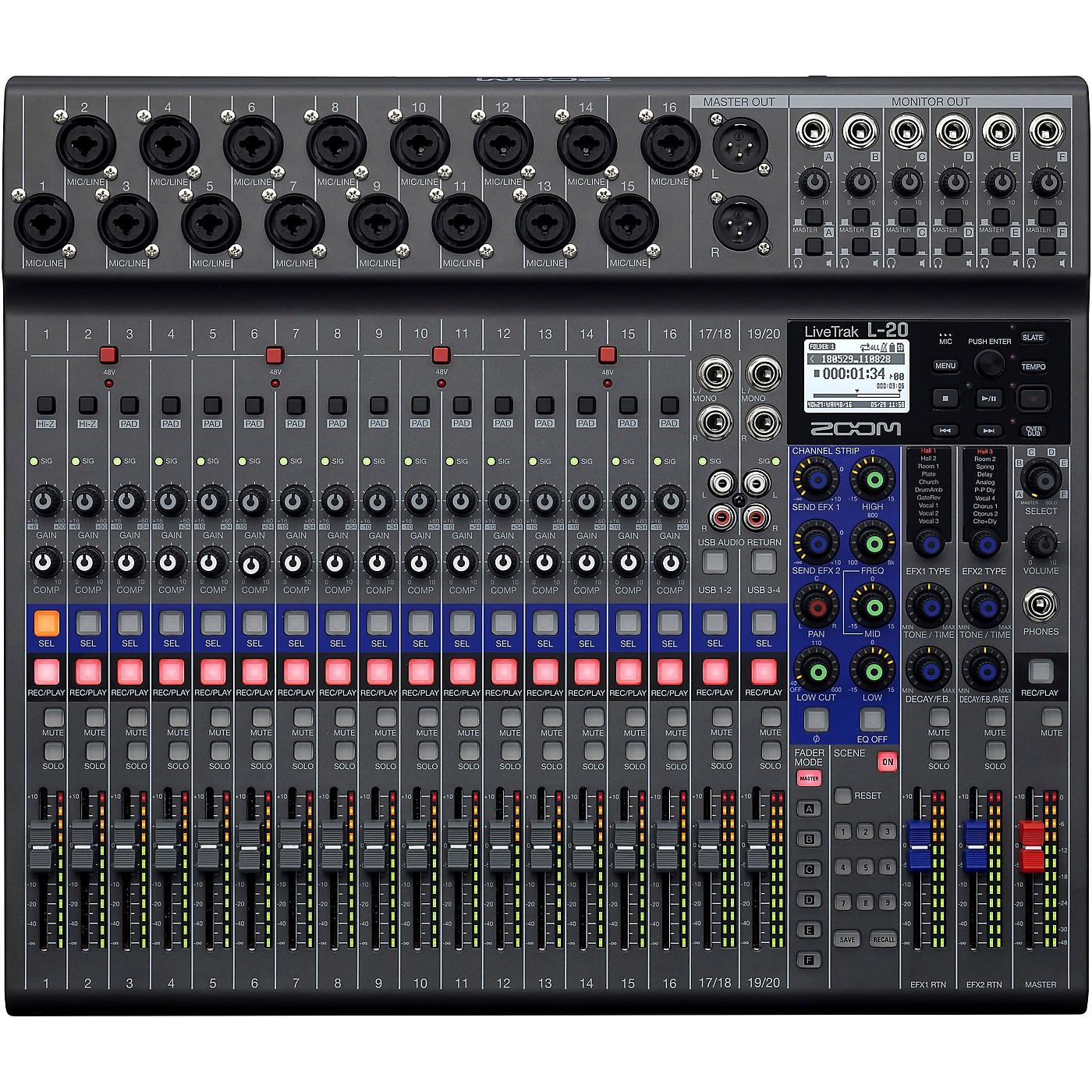 Zoom LiveTrak L-20 Digital Mixer thumbnail