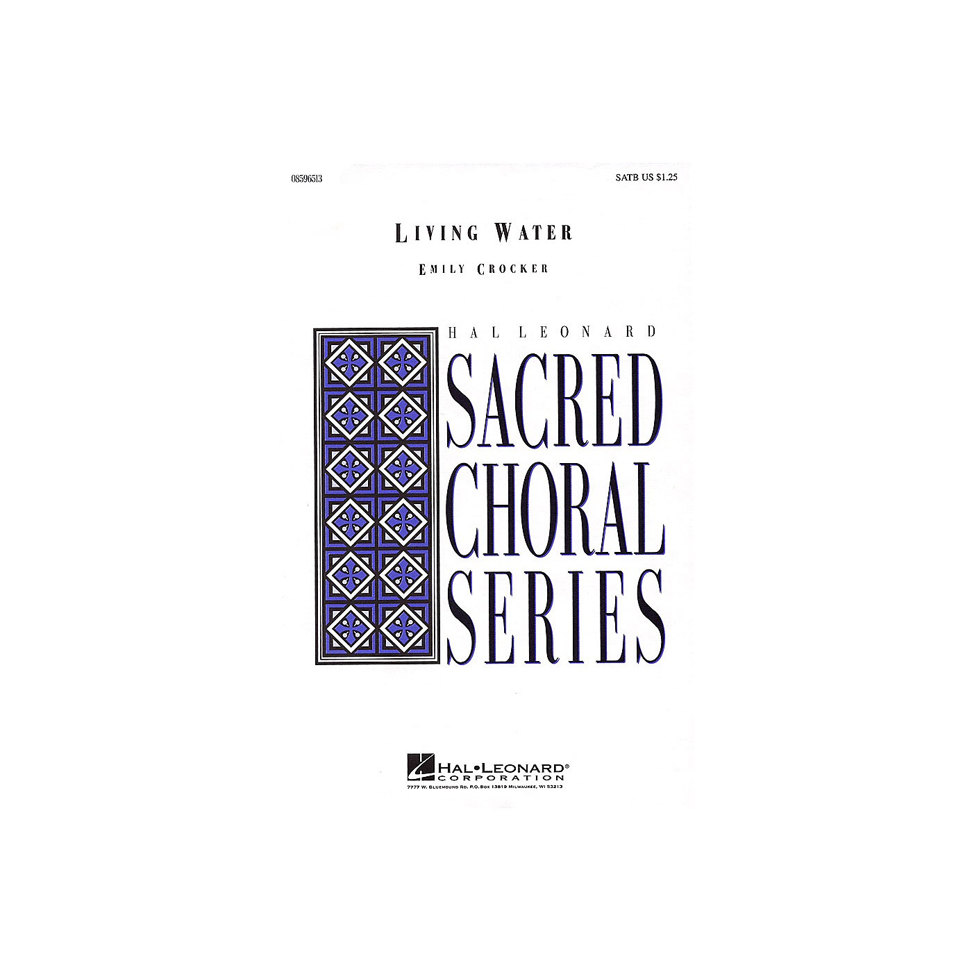 Hal Leonard Living Water SATB composed by Emily Crocker thumbnail