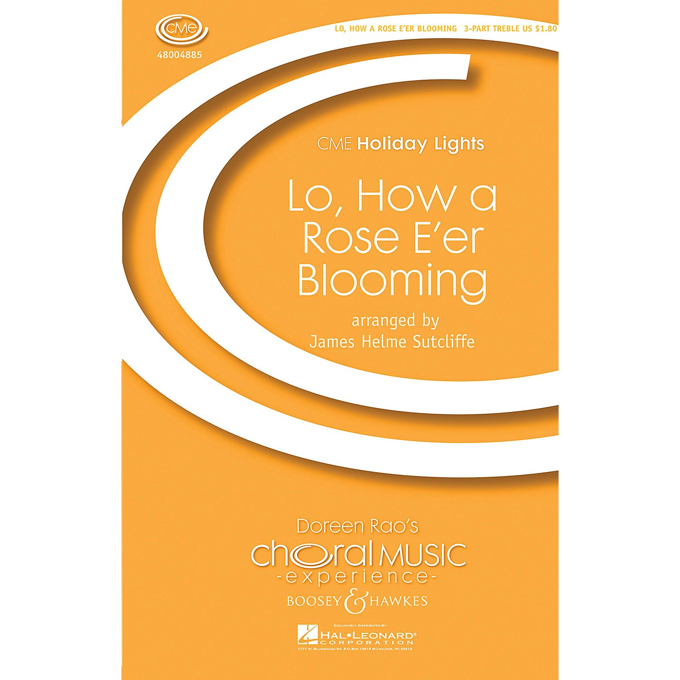 Boosey and Hawkes Lo, How a Rose E'er Blooming (CME Holiday Lights) SSA A Cappella arranged by James Helme Sutcliffe thumbnail