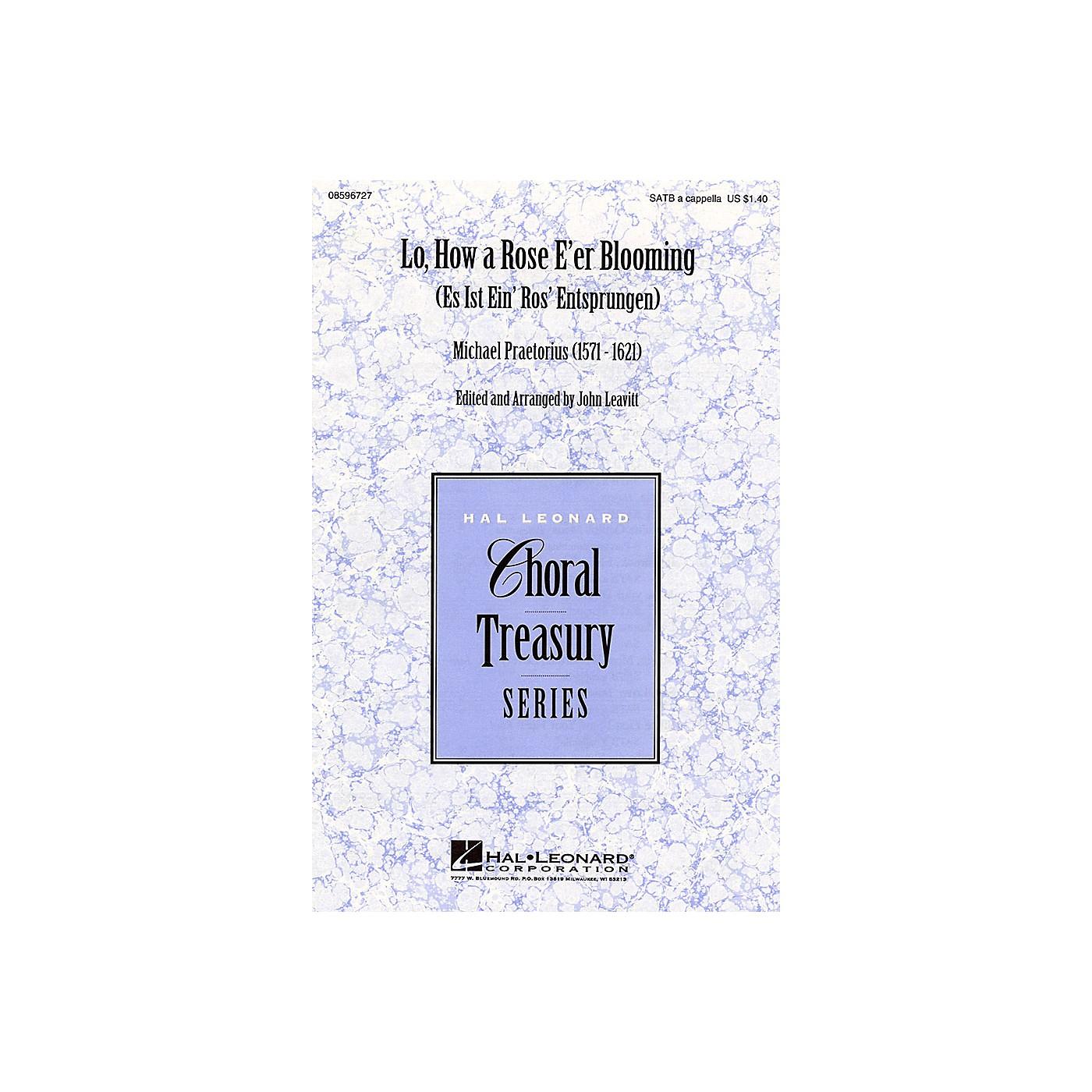Hal Leonard Lo, How a Rose E'er Blooming SATB a cappella arranged by John Leavitt thumbnail