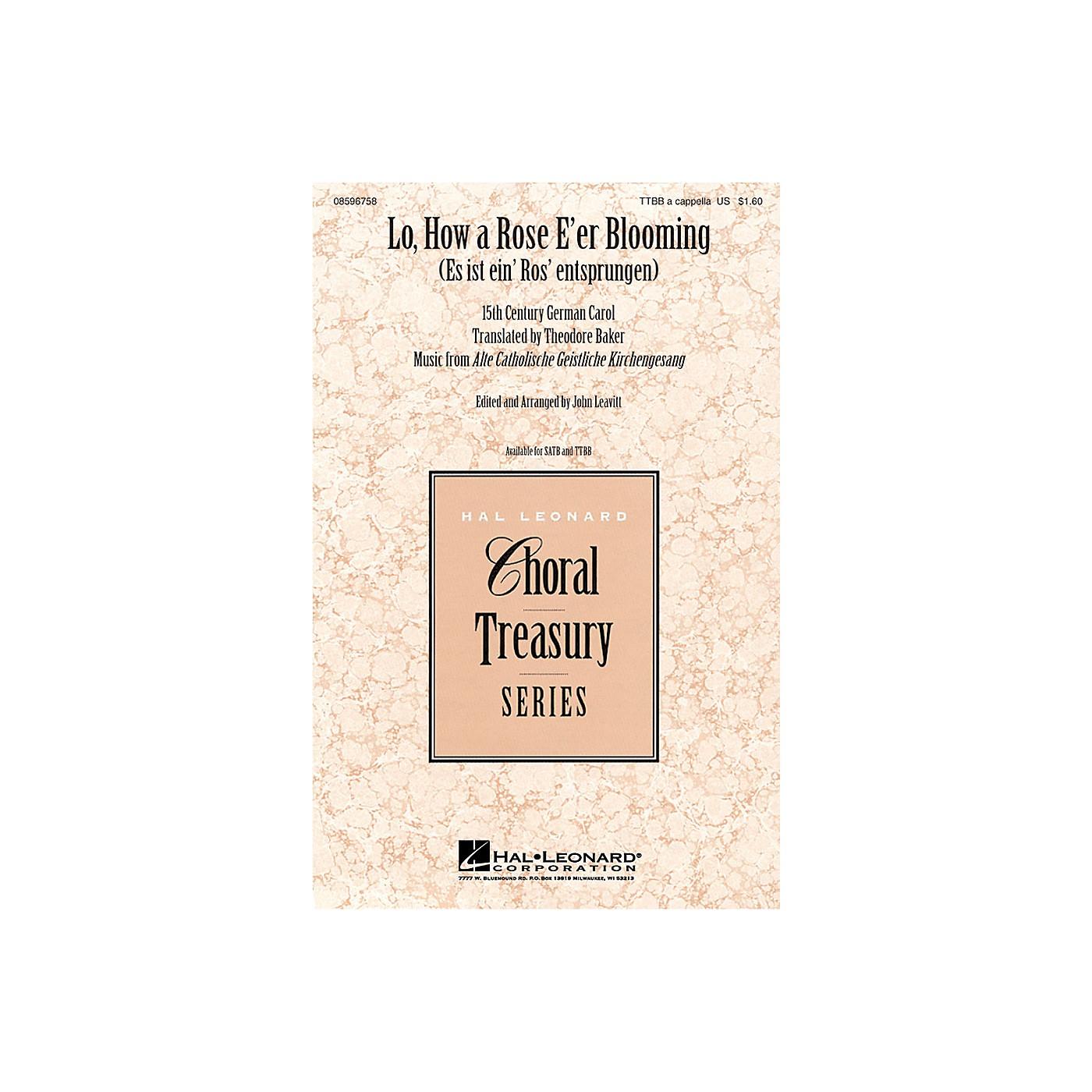 Hal Leonard Lo, How a Rose E'er Blooming TTBB arranged by John Leavitt thumbnail
