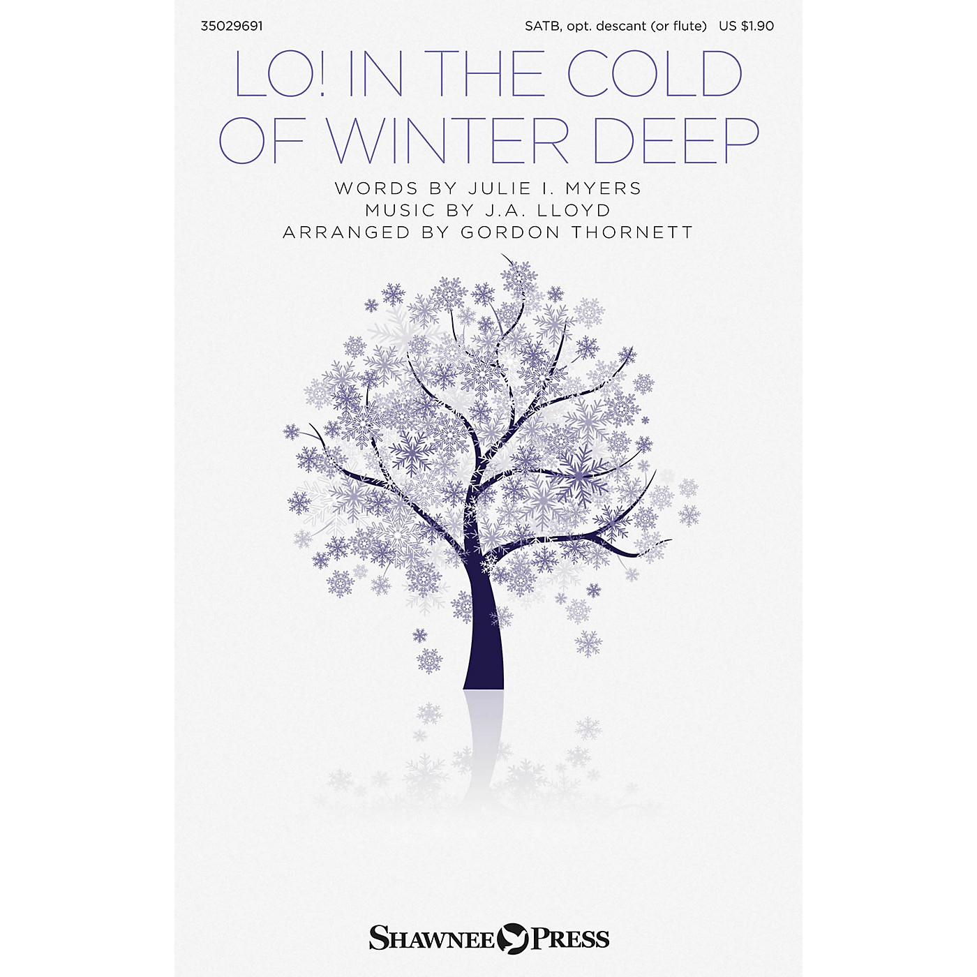 Shawnee Press Lo! In the Cold of Winter Deep SATB arranged by Gordon Thornett thumbnail