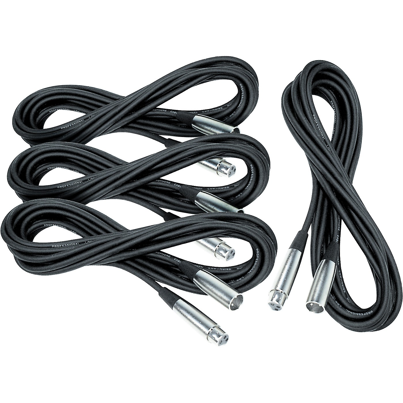 Musician's Gear Lo-Z Mic Cable 20' 4-Pack thumbnail