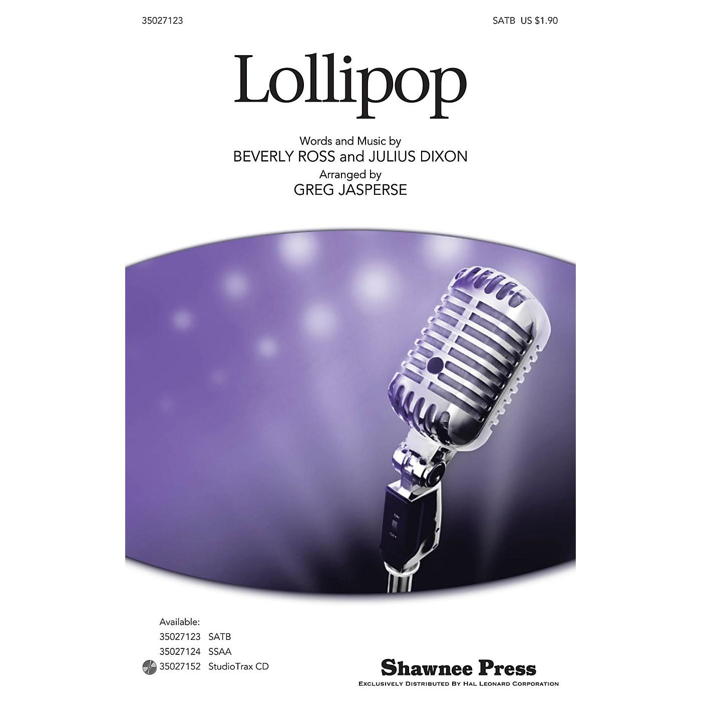 Shawnee Press Lollipop SATB arranged by Greg Jasperse thumbnail