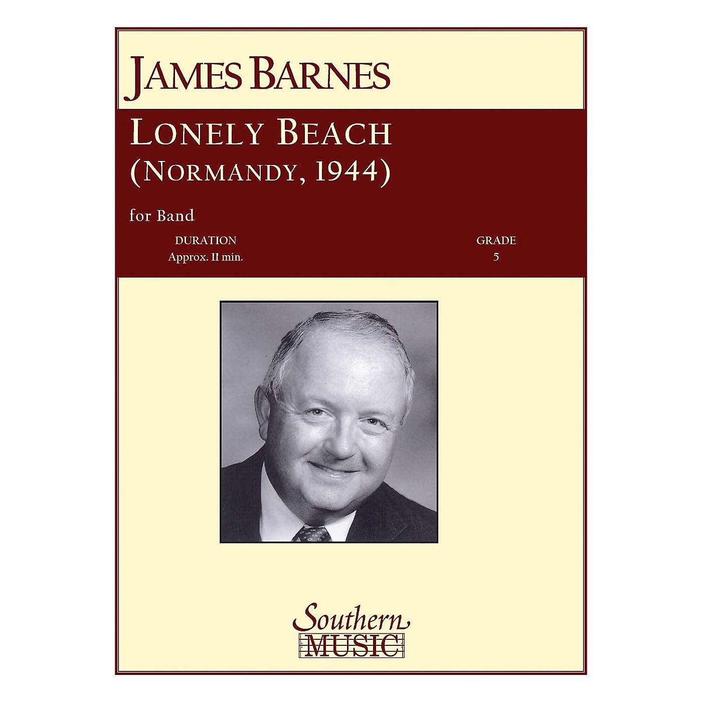 Southern Lonely Beach (Normandy 1944) Concert Band Level 5 Composed by James Barnes thumbnail