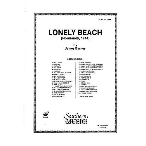 Southern Lonely Beach (Normandy 1944) (Oversized Full Score) Concert Band Level 5 Composed by James Barnes thumbnail