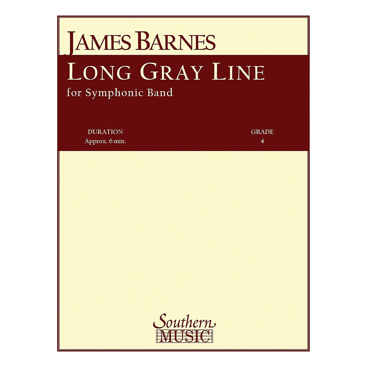 Southern Long Gray Line Concert Band Level 4 Composed by James Barnes thumbnail