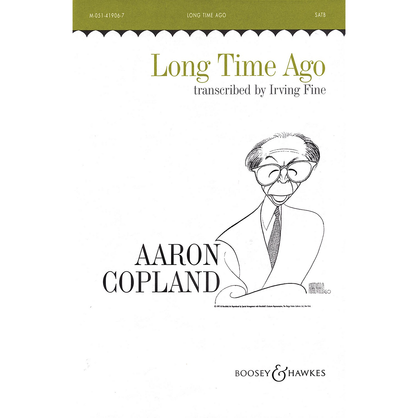 Boosey and Hawkes Long Time Ago (SATB and Piano) SATB arranged by Irving Fine thumbnail