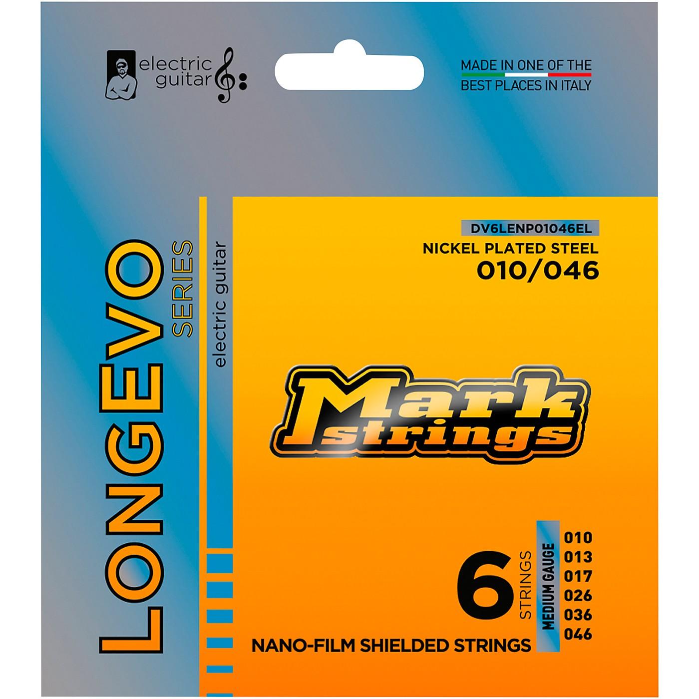 Markbass Longevo Series Nanofilm Shielded Nickel Plated Steel Electric Guitar Strings (10-46) thumbnail