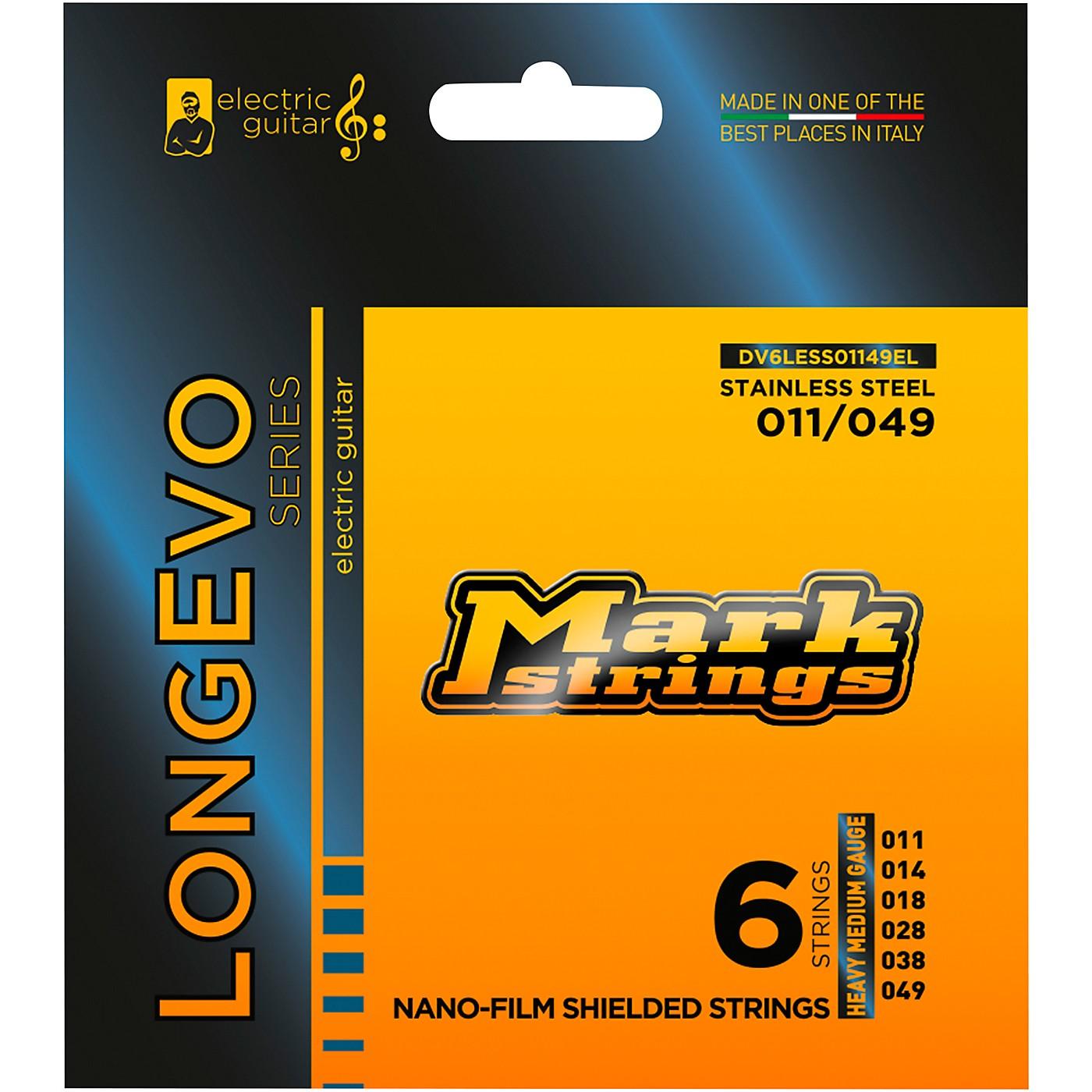Markbass Longevo Series Nanofilm Shielded Stainless Steel Electric Guitar Stings (11-49) thumbnail