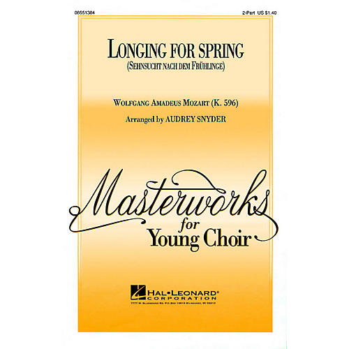 Hal Leonard Longing for Spring 2-Part arranged by Audrey Snyder thumbnail