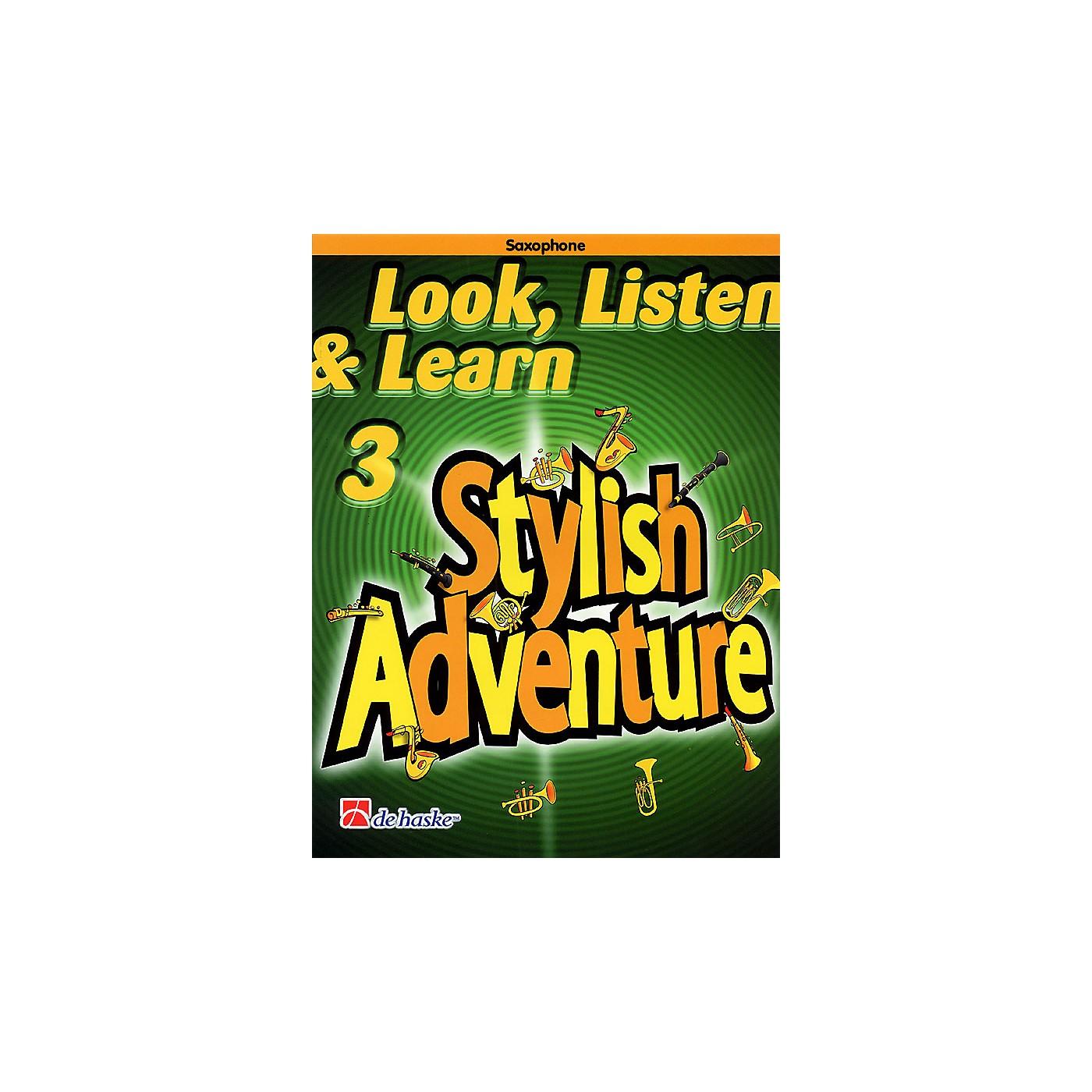 De Haske Music Look, Listen & Learn Stylish Adventure Saxophone Grade 3 Concert Band thumbnail