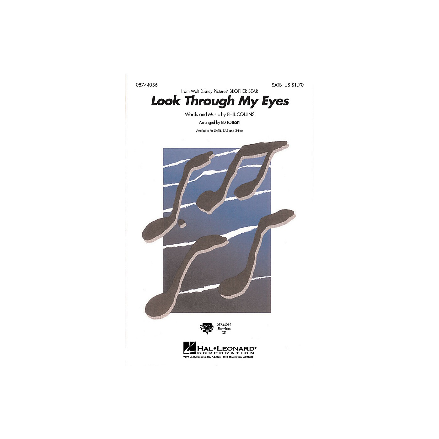 Hal Leonard Look Through My Eyes 2-Part by Phil Collins Arranged by Ed Lojeski thumbnail