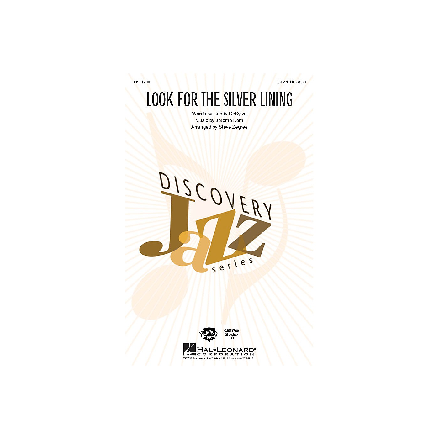 Hal Leonard Look for the Silver Lining 2-Part arranged by Steve Zegree thumbnail