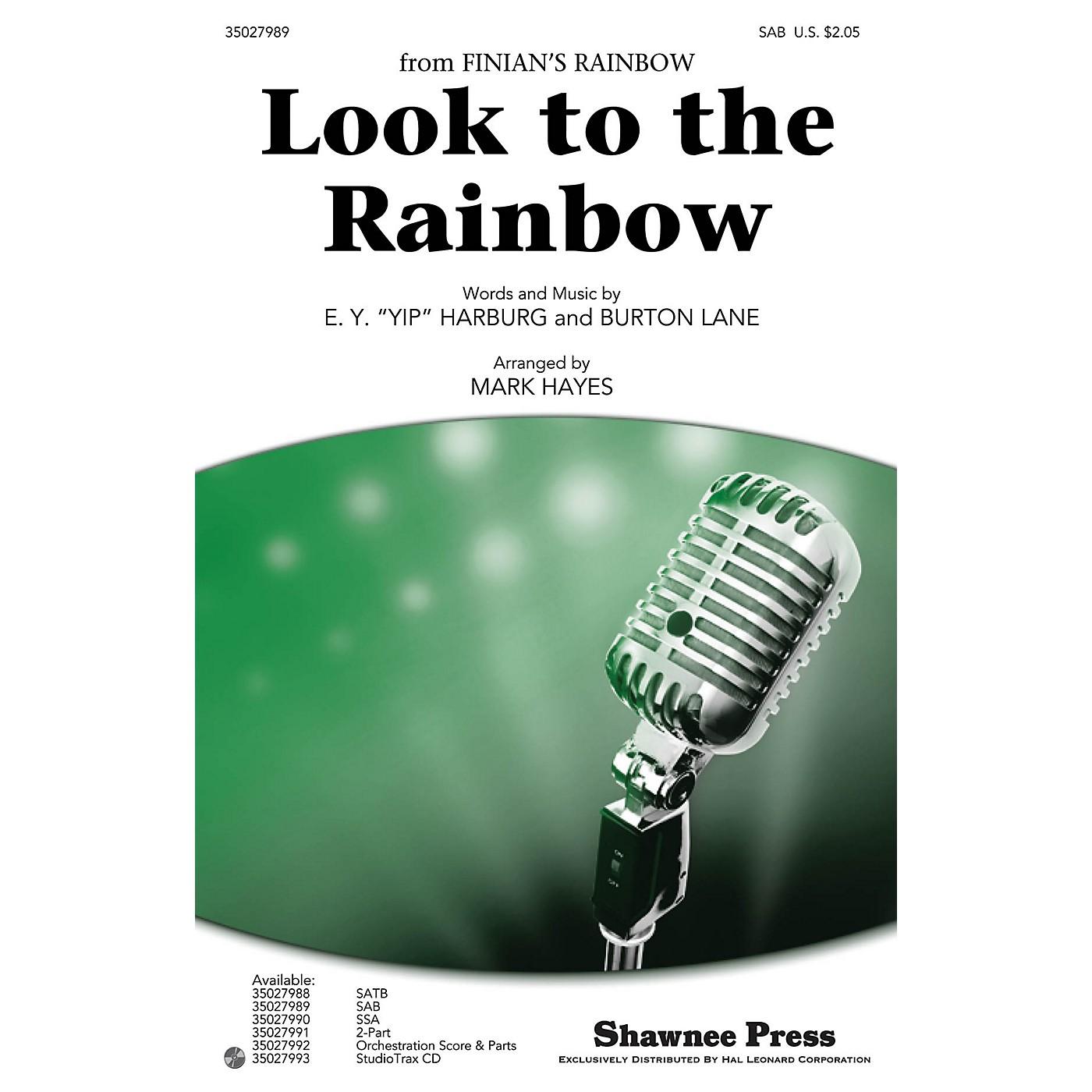 Shawnee Press Look to the Rainbow SAB arranged by Mark Hayes thumbnail