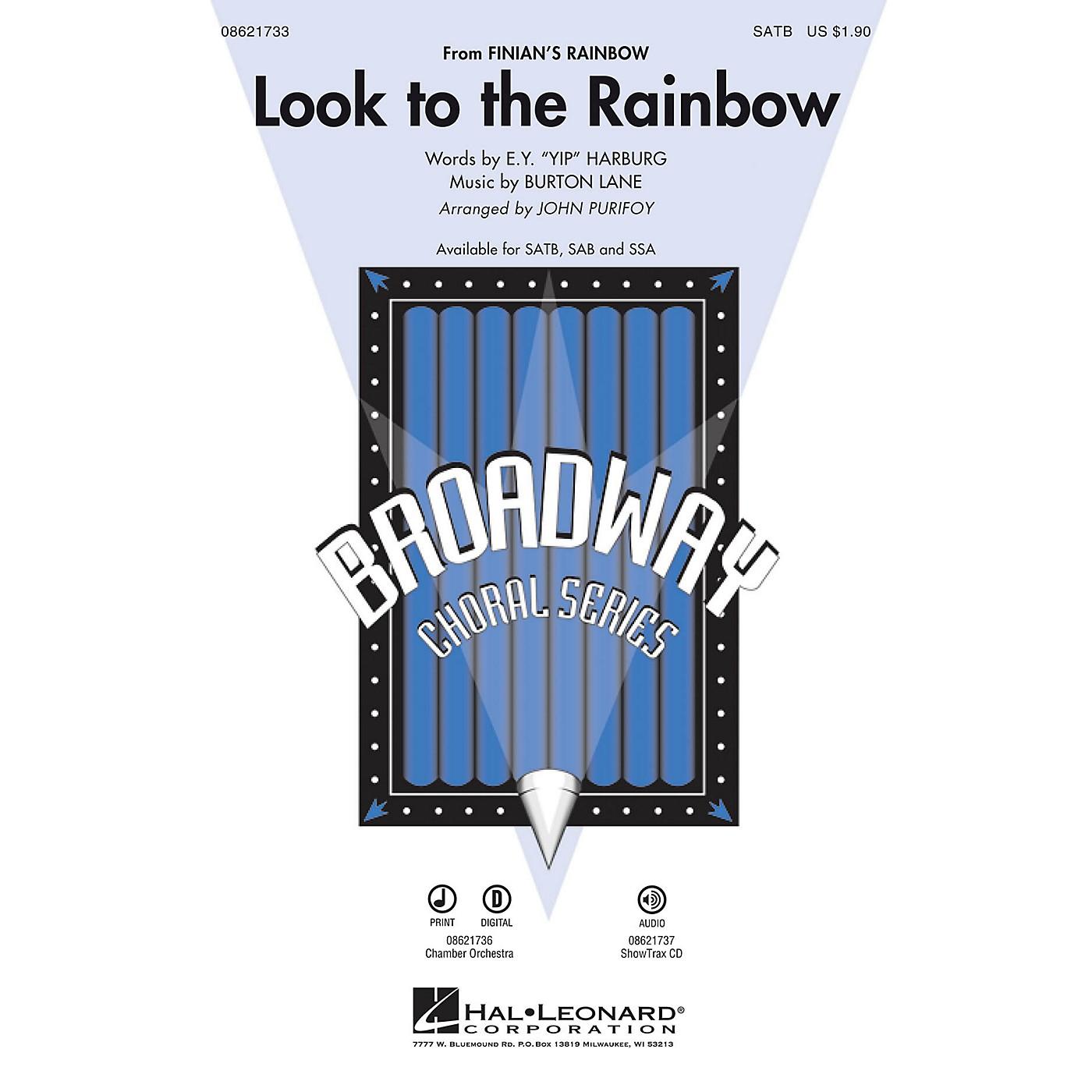 Hal Leonard Look to the Rainbow (from Finian's Rainbow) SATB arranged by John Purifoy thumbnail