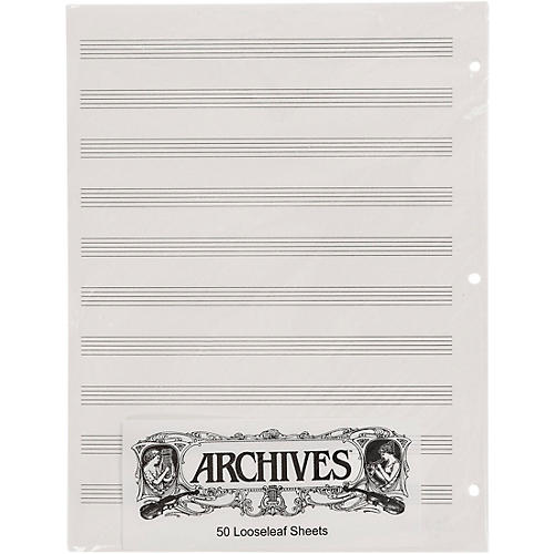 Archives Loose Leaf Manuscript Paper 10 Stave 50 Sheets thumbnail