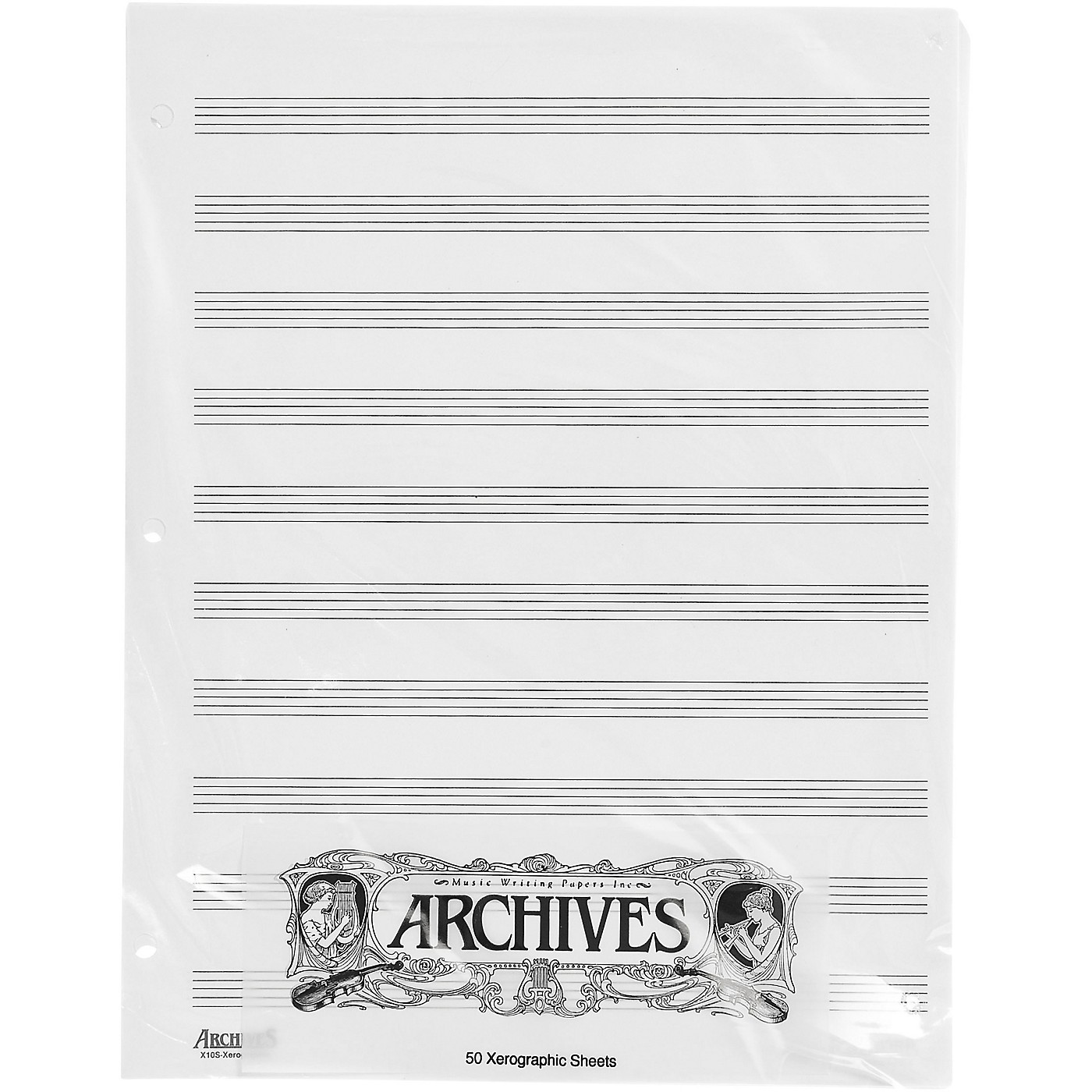 Archives Loose Leaf Manuscript Paper 10 Stave 50 Xerographic Sheets thumbnail