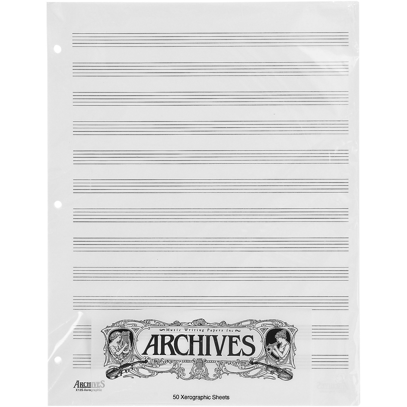 Archives Loose Leaf Manuscript Paper 12 Stave 50 Xerographic Sheets thumbnail