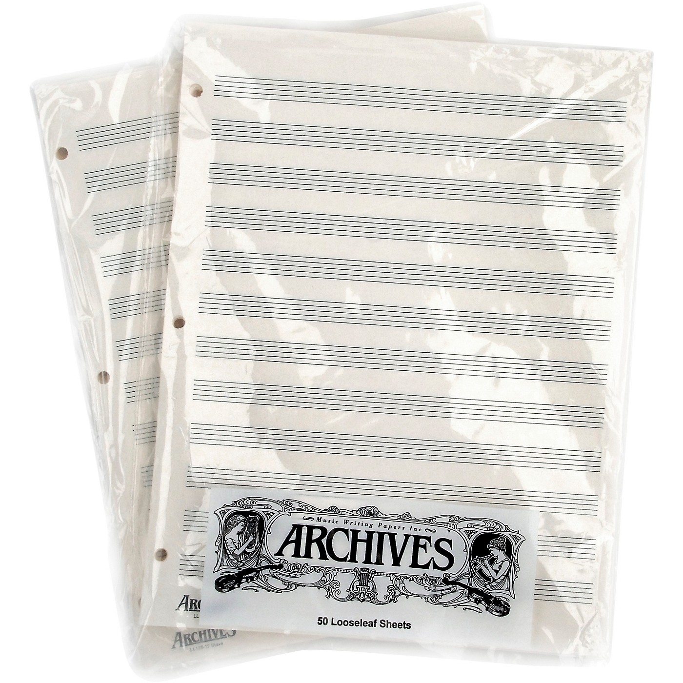 Archives Loose Leaf Manuscript Paper 12 Staves 50 Sheets thumbnail