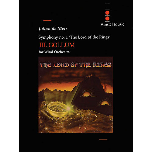 Amstel Music Lord of the Rings, The (Symphony No. 1) - Gollum - Mvt. III Concert Band Level 5-6 by Johan de Meij thumbnail