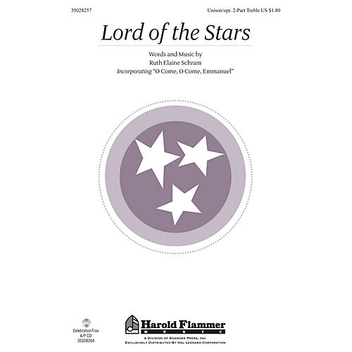 Shawnee Press Lord of the Stars UNIS/2PT composed by Ruth Elaine Schram thumbnail