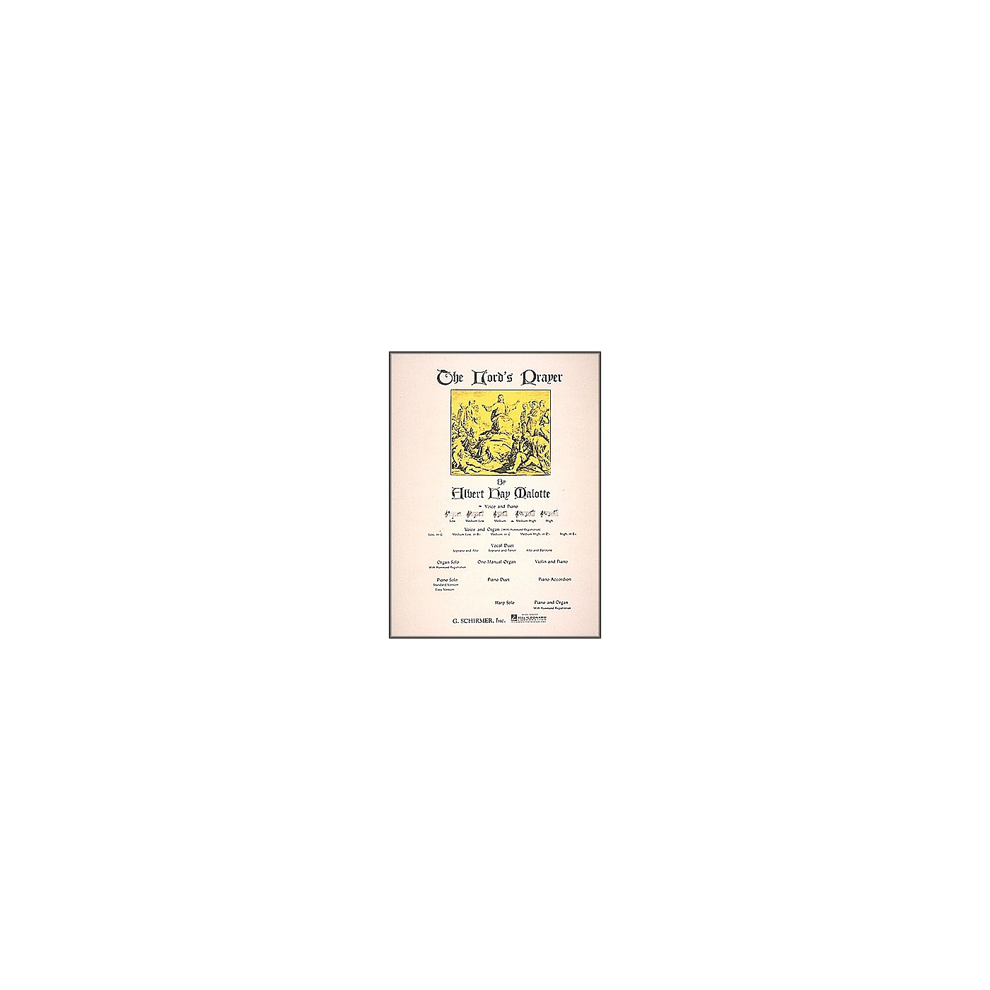 G. Schirmer Lord's Prayer Medium High Voice And Piano In D Flat thumbnail