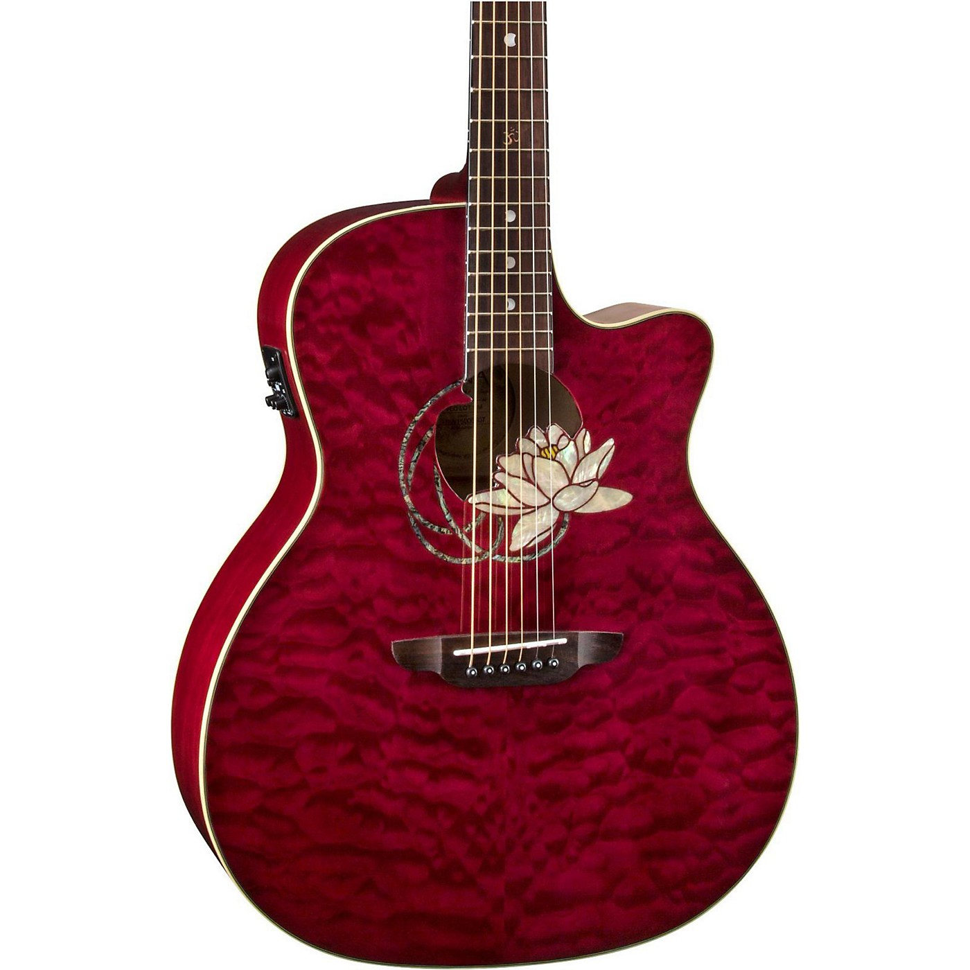Luna Guitars Lotus Quilted Maple Acoustic-Electric Guitar thumbnail