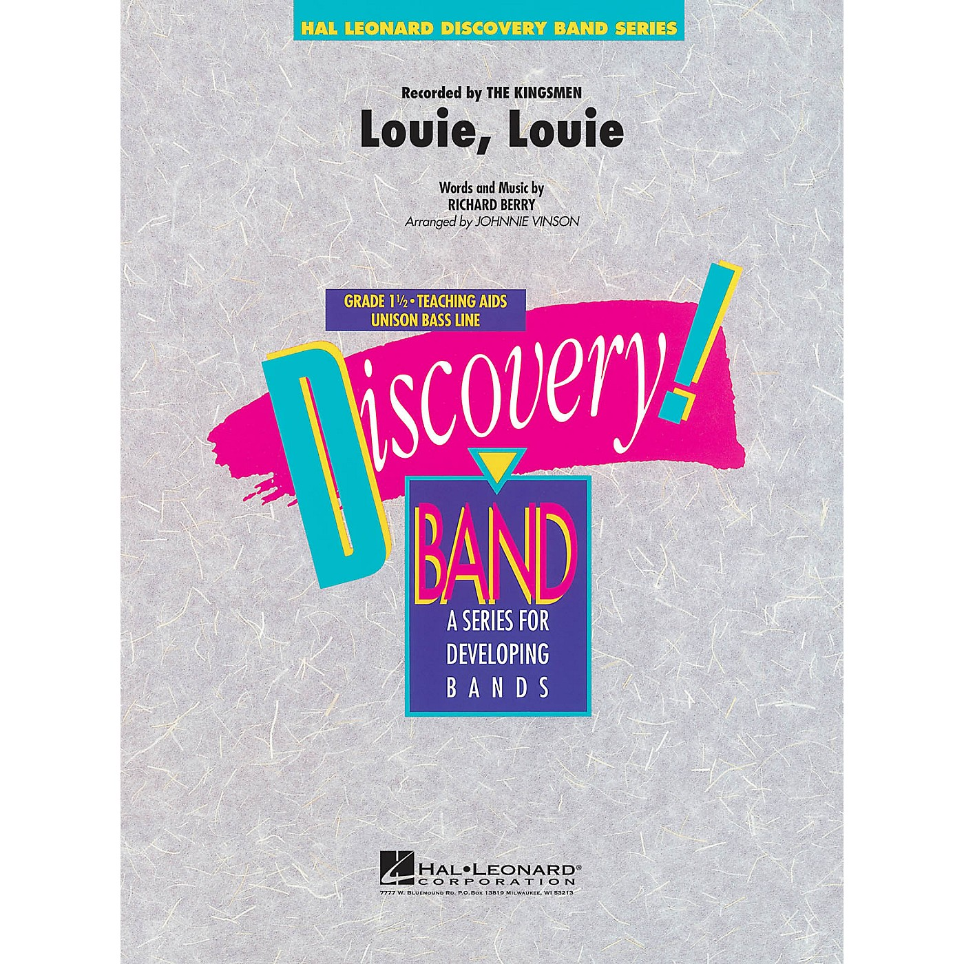 Hal Leonard Louie, Louie Concert Band Level 1.5 by The Kingsman Arranged by Johnnie Vinson thumbnail