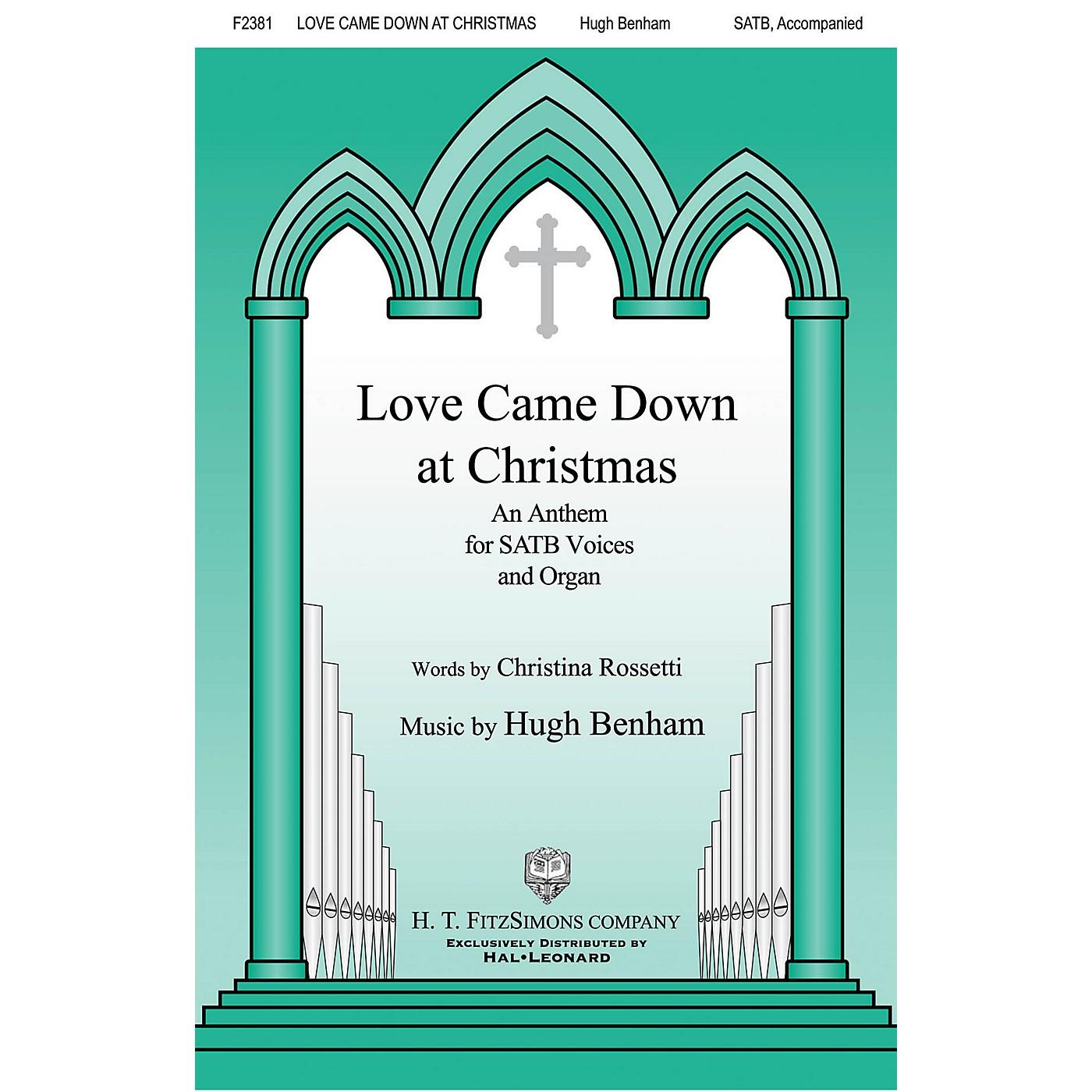 H.T. FitzSimons Company Love Came Down at Christmas SATB composed by Hugh Benham thumbnail