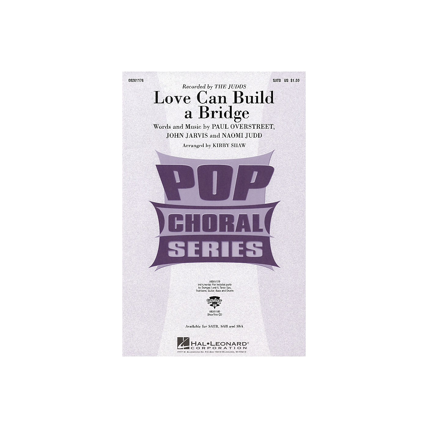 Hal Leonard Love Can Build a Bridge SATB by The Judds arranged by Kirby Shaw thumbnail