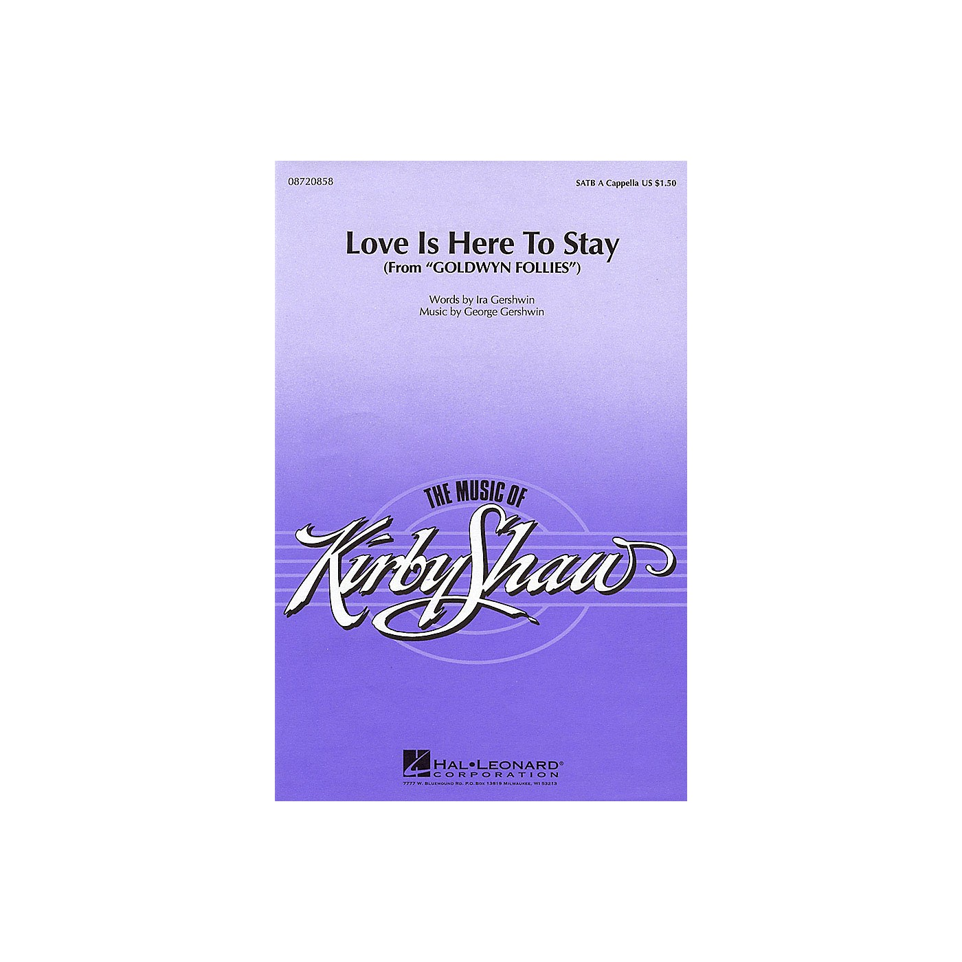 Hal Leonard Love Is Here to Stay SATB arranged by Kirby Shaw thumbnail
