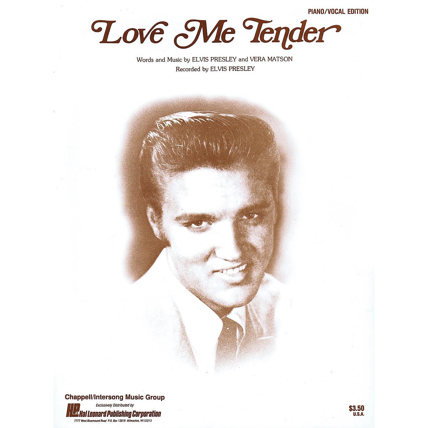 Hal Leonard Love Me Tender Piano Vocal Series Performed by Elvis Presley thumbnail