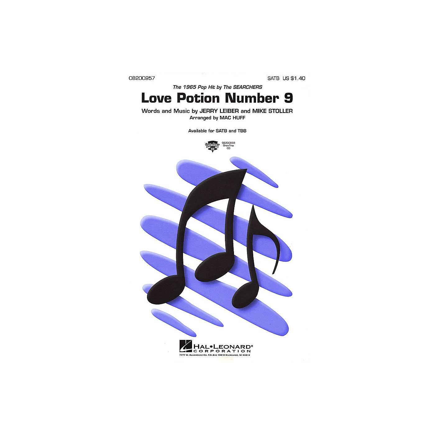 Hal Leonard Love Potion Number 9 ShowTrax CD by Searchers Arranged by Mac Huff thumbnail