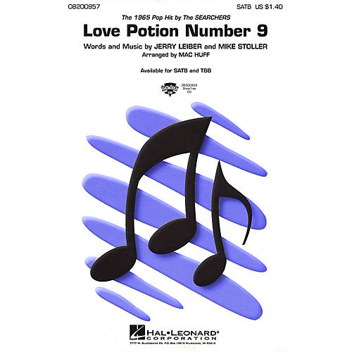 Hal Leonard Love Potion Number 9 TBB by Searchers Arranged by Mac Huff thumbnail