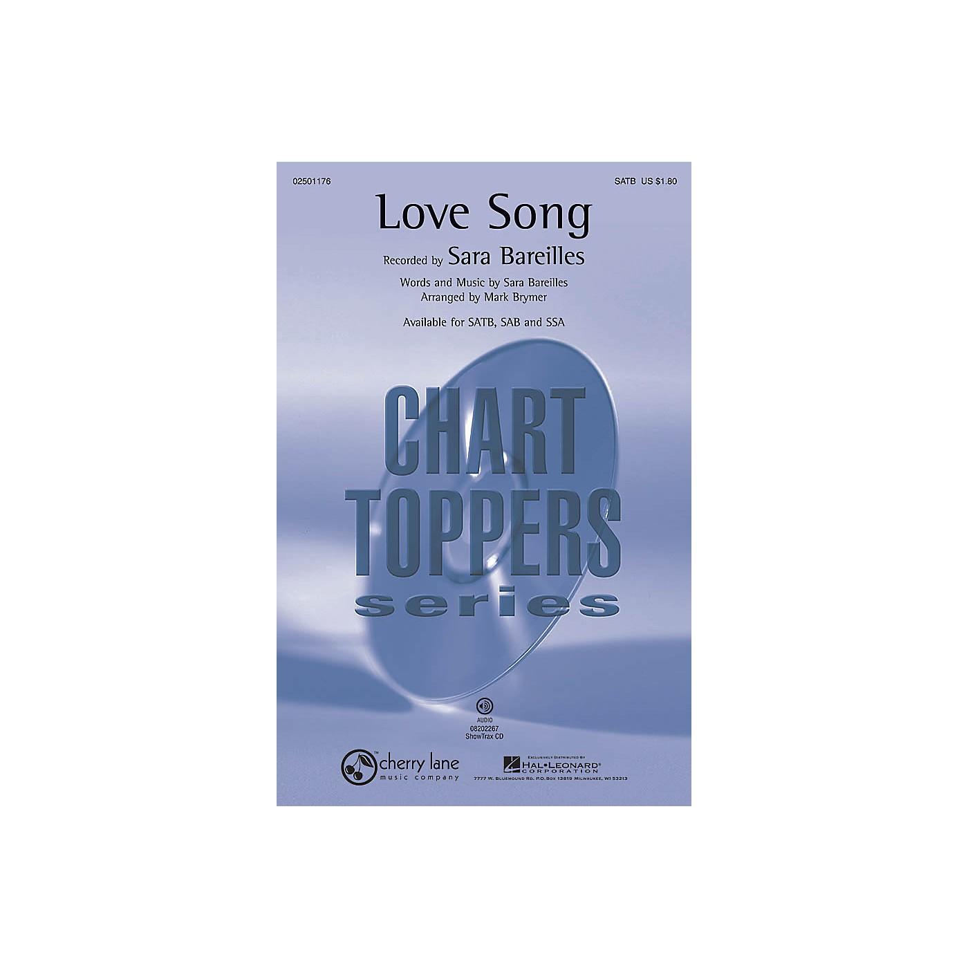 Cherry Lane Love Song SSA by Sara Bareilles Arranged by Mark Brymer thumbnail