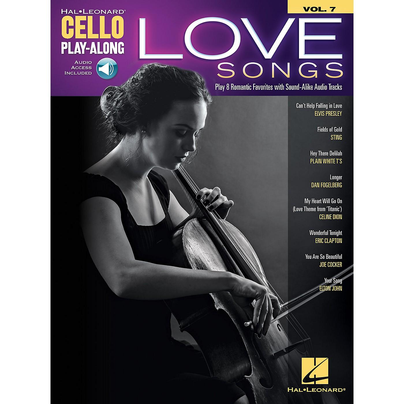 Hal Leonard Love Songs Cello Play-Along Volume 7 Book/Audio Online thumbnail