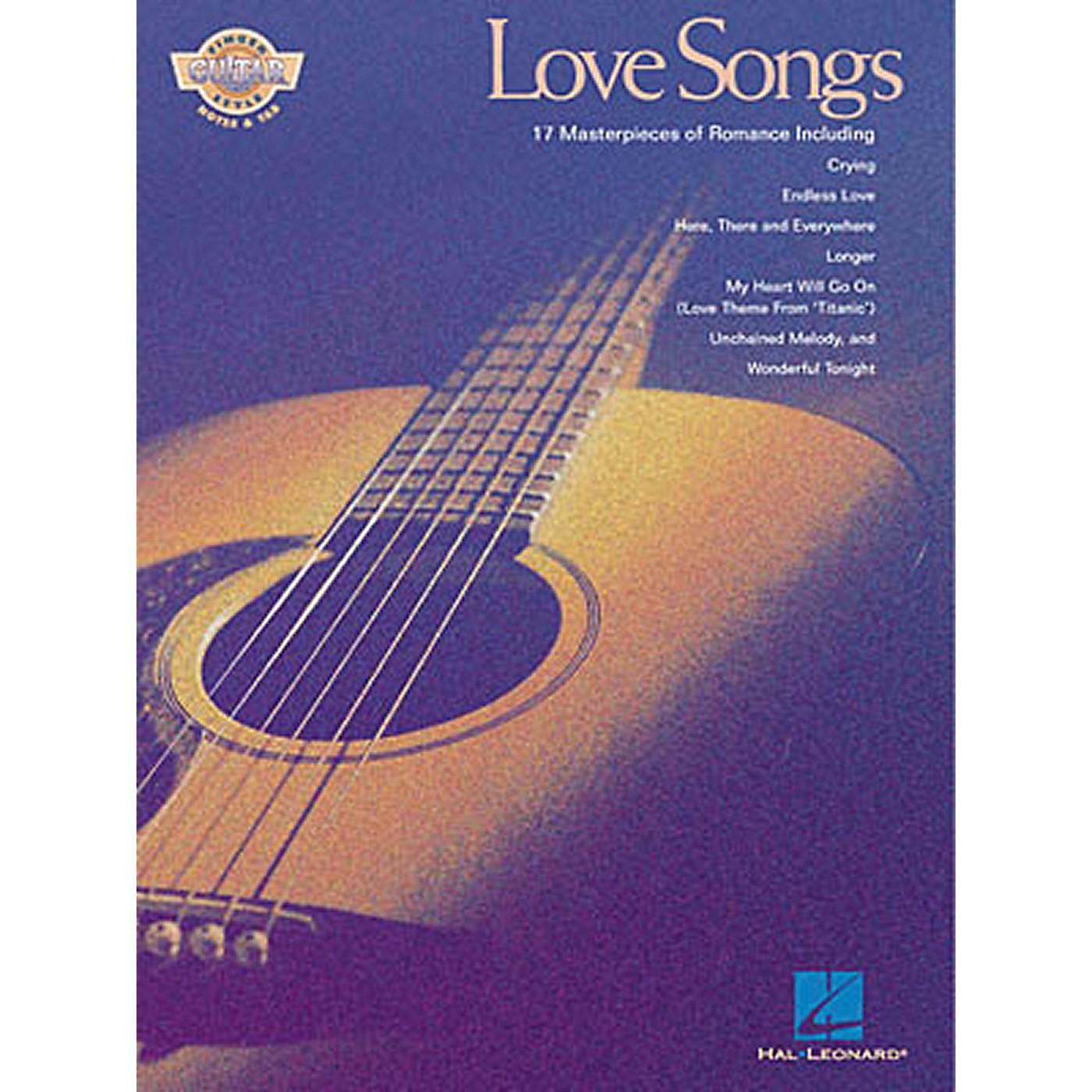 Hal Leonard Love Songs Fingerstyle Guitar Tab Songbook thumbnail
